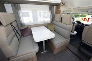 The lounge in the Adria Coral XL Plus 600 DP motorhome