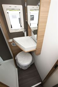 The washroom in the Adria Coral XL Plus 600 DP motorhome