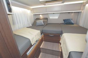Adria Matrix 670 Motorhome interior with Single Bed Layout