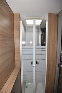 The shower in the Adria Matrix Plus 600 DT motorhome