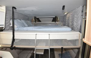 The drop down bed in the Adria Matrix Plus 600 DT motorhome