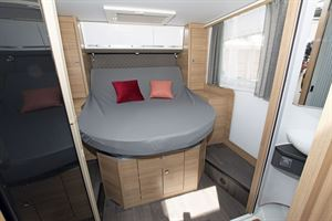 The bed in the Adria Matrix Axess 600 SC motorhome