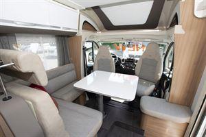 The lounge in the Adria Matrix Axess 600 SC motorhome