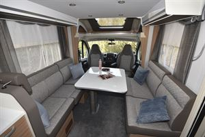 Lounge seating in the Adria Matrix Plus 600 DT motorhome