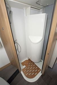 The shower in the Adria Matrix Axess 600 SC motorhome