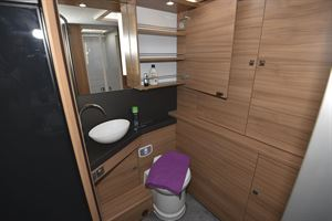 The washroom in the Adria Matrix Plus 600 DT motorhome