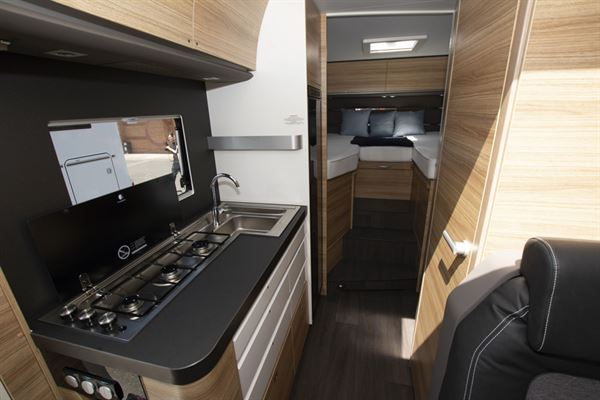 The kitchen in the Adria Sonic Axess 600 SL motorhome