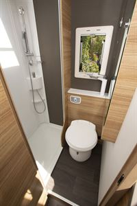 The washroom in the Adria Sonic Axess 600 SL motorhome