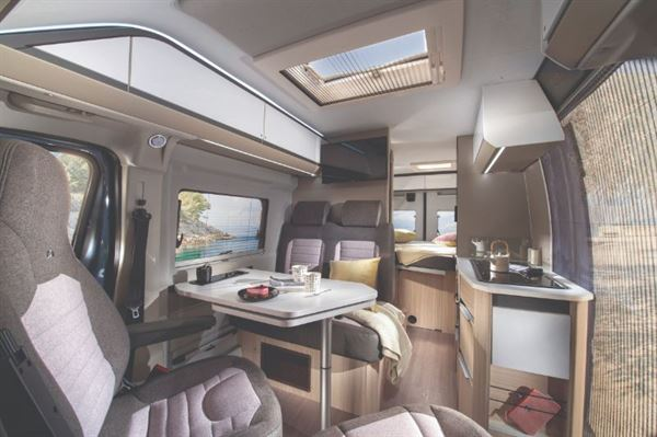 Adria Twin Plus 600 Motorhome Interior with Bed Layout