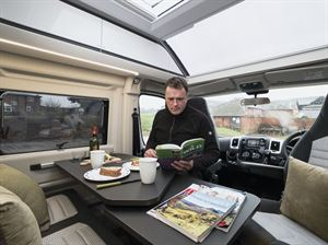 Plenty of space for dining in the Adria Twin Supreme 640 SGX campervan