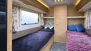 Beds in the Adria Adora Seine caravan