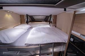 Drop-down bed in the Adria Matrix