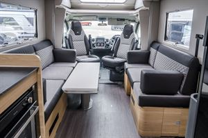 Redesigned for 2021, this Adria now has a double floor