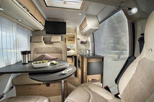 The interior view of the Adria Twin Plus 600 SPB motorhome