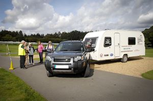 Manoeuvring course from The Camping and Caravanning Club