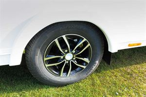The Lunar Solaris 574 comes with alloy wheels as part of the package