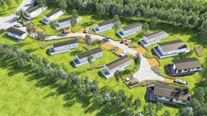 Artist's impression of the new development at Meadow Lakes