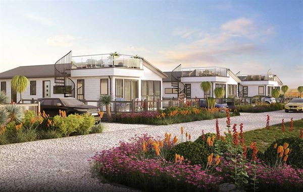 Artist's impression of the roof terrace lodges for St Helens Coastal Resort