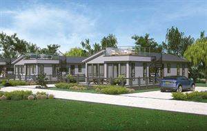 Artist's impression of the roof terrace lodges at Newperran
