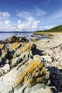 The rocky shoreline on the northwest coast of Arran - picture courtesy of Felicity Martin