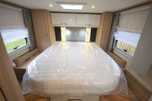The island bed in the The Arto 78F motorhome