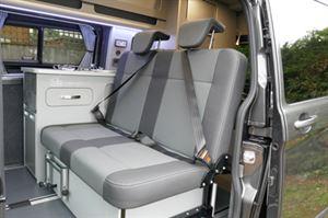 Auto Camper LWB Leisure van Hi-line Vari-slide seat forward seat position
