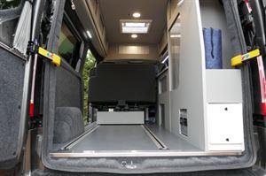 Auto Camper LWB Leisure van Hi-line Vari-slide seat load area
