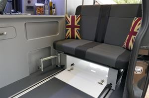 Auto Camper LWB Leisure van Hi-line Vari-slide seat load through locker