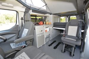 The interior of the Auto-Campers Day Van Eco-line Series