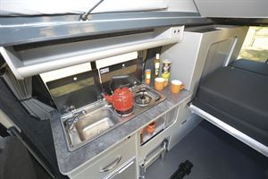 The kitchen in the Auto-Campers Day Van Eco-line Series
