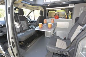 The lounge area in the Auto-Campers Day Van Eco-line Series