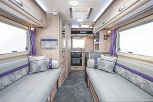 The lounge in the Auto-Sleeper Bourton