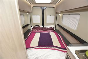 The bed in the Auto-Trail Expedition