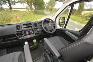 Behind the wheel of the Auto-Trail Expedition