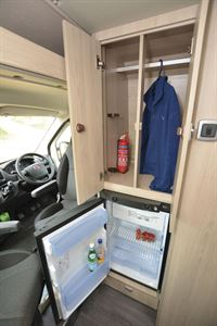 The fridge in the Auto-Trail Expedition