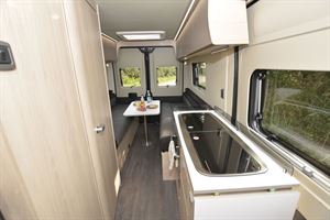 A view of the interior of the Auto-Trail Expedition