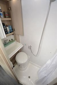 The toilet in the Auto-Trail Expedition