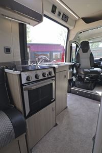 The kitchen in the Auto-Trail Tribute 660 campervan