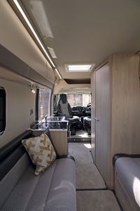 From rear to front in the Auto-Trail Tribute 660 campervan