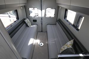 The lounge seating in the Auto-Trail Tribute 660 campervan