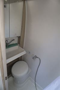 The washroom in the Auto-Trail Tribute 660 campervan