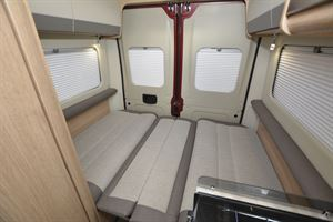 Rear seats folded down to make beds