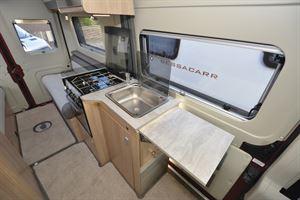 The kitchen in the Auto-Trail V-Line 540 SE campervan