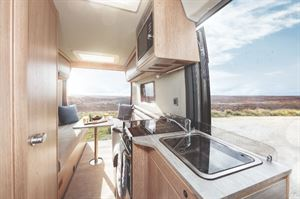 Auto Trail V Line 610 Motorhome interior with rear lounge layout