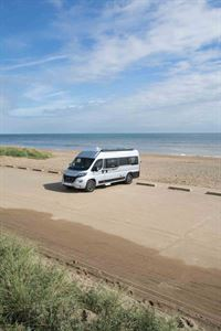 The Auto Trail looks great on the beach