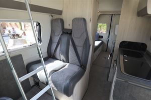 Travel seats in the Auto-Trail Adventure 65 campervan