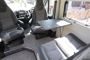 The lounge in the Auto-Trail Adventure 65 campervan