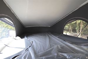 The bed in the Auto-Trail Adventure 65 campervan