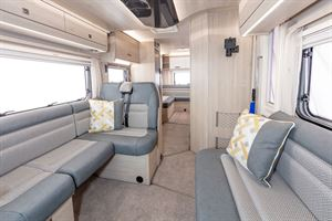 The side-settee lounge in the Auto-Trail F72