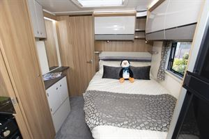 The bedroom in the Bailey Autograph 79-2F motorhome